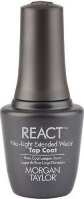 Morgan Taylor REACT Top Coat No-Light Extended Wear (15ml):