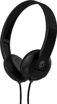 Skullcandy Uproar On-Ear Headphones with Mic & WrapTech (Black & Grey):