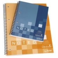 Bantex B1828 Noted Twin Wire Soft Notebook (A4)(Assorted) - One A4 Notebook Only: