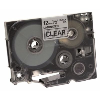Brother TZ-131 P-Touch Laminated Tape (Black on Clear)(12mmx8m):