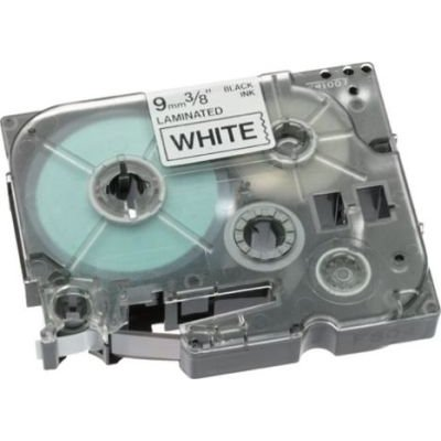 Brother TZE-221 P-Touch Laminated Tape (Black on White )(9mmx8m):
