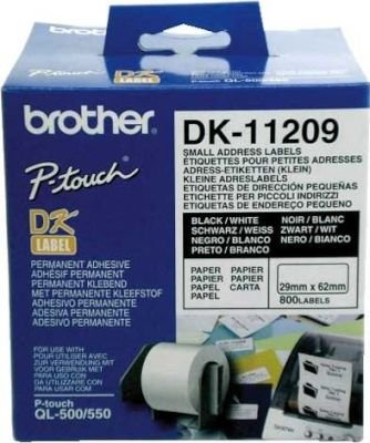 Brother DK-11209 Small Address Label (29mm x 62mm)(800 Labels):