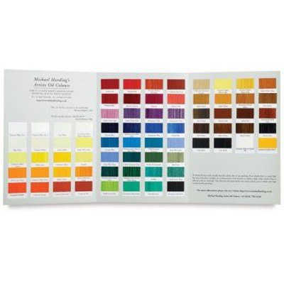 Michael Harding Hand painted Colour Chart: