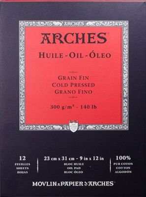 Arches Huile (Oil Painting Paper Pad 9x12in 300gsm Fine):