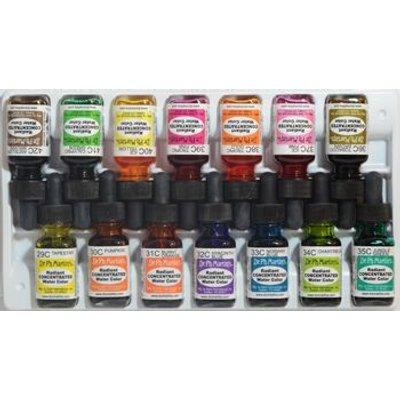 Dr. Ph. Martin's Radiant Watercolour Dye - Set C (29 To 42)(15ml):