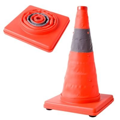 Collapsible Road Cone with Flashing Light: