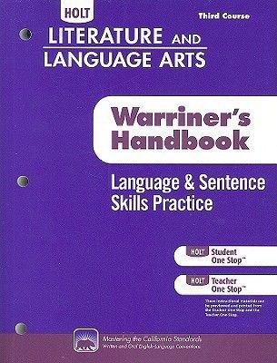 Holt Literature Language Arts Warriner S Handbook