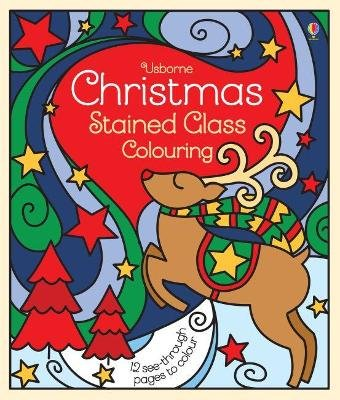 Christmas Stained Glass Colouring (Paperback): Emma Randall