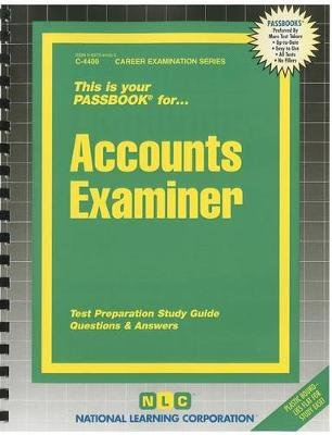 Accounts Examiner (Spiral bound): Jack Rudman