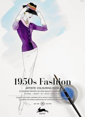 1950s Fashion - Artists' Colouring Book (Paperback): Pepin Van Roojen