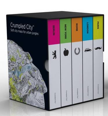 Box Set 1 Crumpled City Maps - London, Paris, New York, Berlin, Rome (Sheet map):