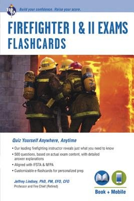 Firefighter I and II Exams Flashcards with Access Code (Paperback): Jeffrey Lindsey