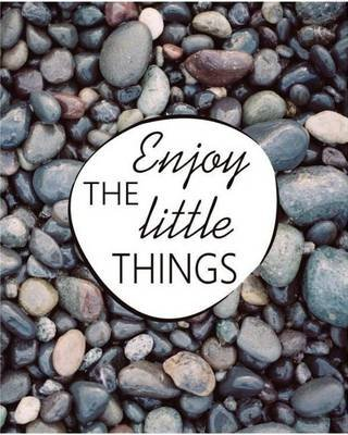 "Enjoy the Little Things - Good Vibes Journal 160 Page 8x10"" Inspirational Quote Journal Writing Journal Notebook, Lined..."