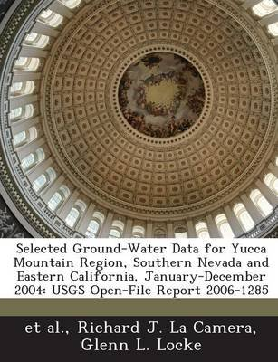 Selected Ground-Water Data for Yucca Mountain Region, Southern Nevada and Eastern California, January-December 2004 - Usgs...