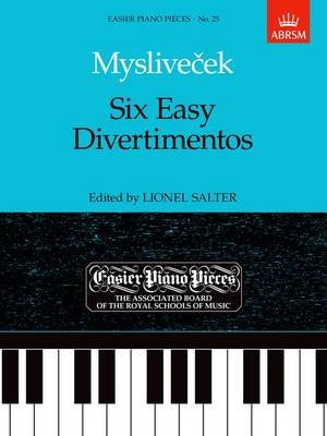 Six Easy Divertimentos - Easier Piano Pieces 25 (Sheet music): Josef Myslivecek