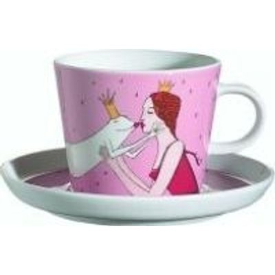 Arzberg Frog Princess Breakfast Cup and Saucer (Multicolour):