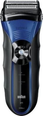 Braun Series 3-3040s Wet and Dry Shaver (Black and Blue):