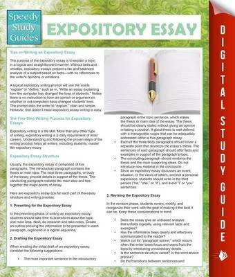 Expository Essay (Speedy Study Guides) (Electronic book text): Speedy Publishing LLC