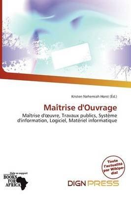 Ma Trise D'Ouvrage (French, Paperback): Kristen Nehemiah Horst