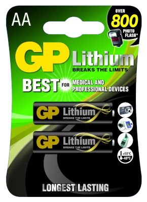 GP Lithium Batteries (AA)(2 Pack):