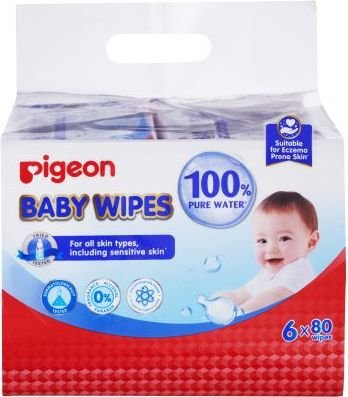 Pigeon Baby Wipes 82'S With Chamrose 6-In-1 (Refill Pack):