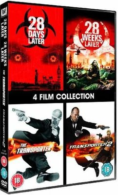 28 Days Later/28 Weeks Later/The Transporter/The Transporter 2 (English & Foreign language, DVD): Jason Statham, Shu Oi,...