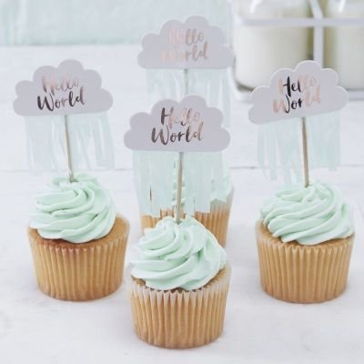 Hello World - Cupcake Picks (Hello World - Clouds):