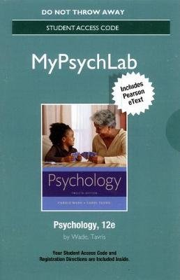 NEW MyLab Psychology  with Pearson eText -- Standalone Access Card -- for Psychology (Digital product license key, 12th...