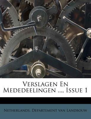 Verslagen En Mededeelingen ..., Issue 1 (Paperback):