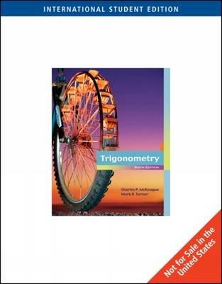 Trigonometry (Paperback, International ed of 6th revised ed): Charles P. McKeague, Mark Turner