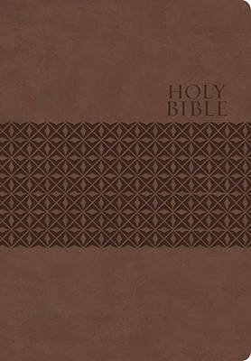 KJV, End-of-Verse Reference Bible, Personal Size, Giant Print, Imitation Leather, Brown, Indexed, Red Letter Edition (Leather /...