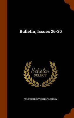 Bulletin, Issues 26-30 (Hardcover): Tennessee Division of Geology