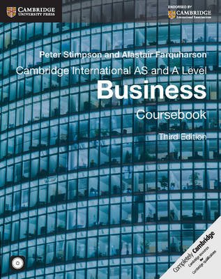Cambridge International AS and A Level Business Coursebook with CD-ROM (Paperback, 3rd Revised edition): Peter Stimpson,...
