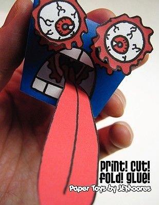 Print! Cut! Fold! Glue! (Paperback): J. E. Moores