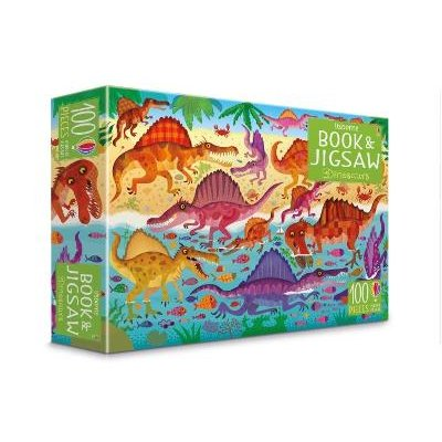 Usborne Book and Jigsaw: Dinosaurs (Book & Toy) (Paperback, New Edition): Sam Smith