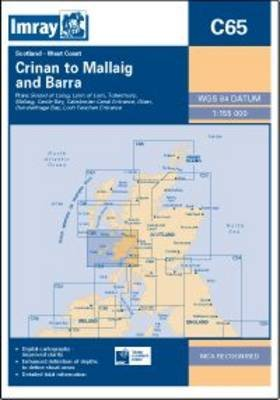 Imray Chart C65 - Crinan to Mallaig and Barra (Sheet map, folded): Imray