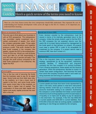Finance (Speedy Study Guides) (Electronic book text): Speedy Publishing LLC