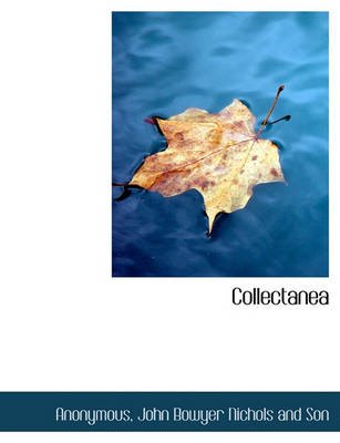 Collectanea (English, Latin, Hardcover): Anonymous