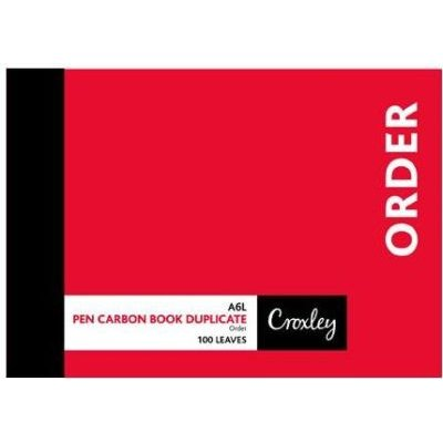 Croxley JD16ps A6l Order Pen Carbon Book (100 Leaves)(10-Pack):