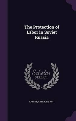 The Protection of Labor in Soviet Russia (Hardcover): S 1897 Kaplun