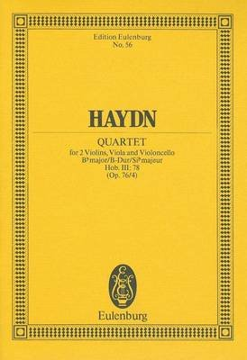 Haydn: Quartet - For 2 Violins, Viola and Violoncello (English, German, Sheet music):