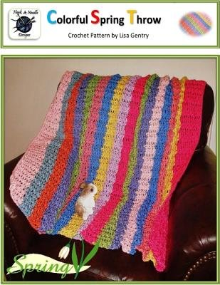 Colorful Spring Throw Crochet Pattern Electronic Book Text Lisa