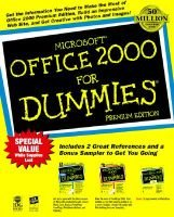 Microsoft Office 2000 for Dummies Premium Edition (Paperback, Premium ed): Wallace