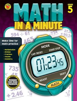 Math in a Minute, Grade 5 (Paperback): Brighter Child