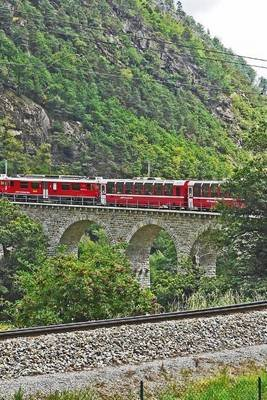 Bernina Mountain Train, for the Love of Switzerland - Blank 150 Page Lined Journal for Your Thoughts, Ideas, and Inspiration...
