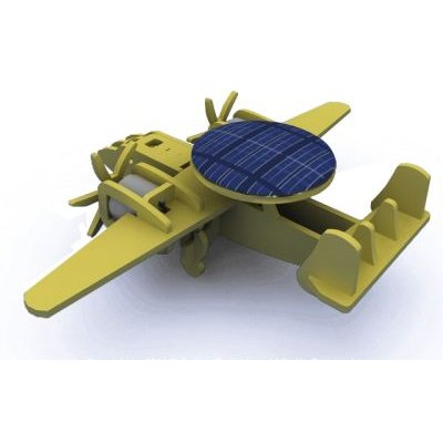 Robotime Wooden Model Kit - Solar-Powered Early Warning Plane: