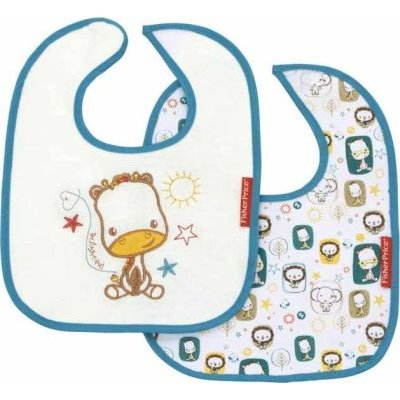 Fisher Price Cotton Bibs (Set of 2):