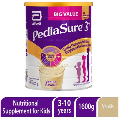 PediaSure 3+ Nutritional Supplement for Growing Children (Vanilla Flavour)(3 - 10 Years)(1.6 kg):