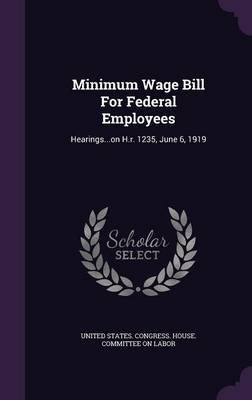 Minimum Wage Bill for Federal Employees - Hearings...on H.R. 1235, June 6, 1919 (Hardcover): United States. Congress. House....