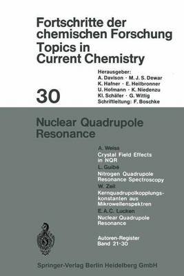Nuclear Quadrupole Resonance (Paperback, 1972 ed.): E.A.C. Lucken